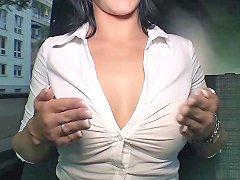 Bumsbus German Hottie Sina Velvet Gets Facial In The