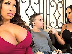 August Taylor Sybil Stallone Keiran Lee In Sharing Is Caring Brazzers