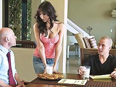 A Gorgeous Busty Milf Bakes Cookies And Gets Drilled